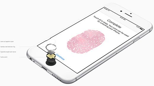 2x rychlejší čtečka otisků prstů Touch ID nového iPhone 6S