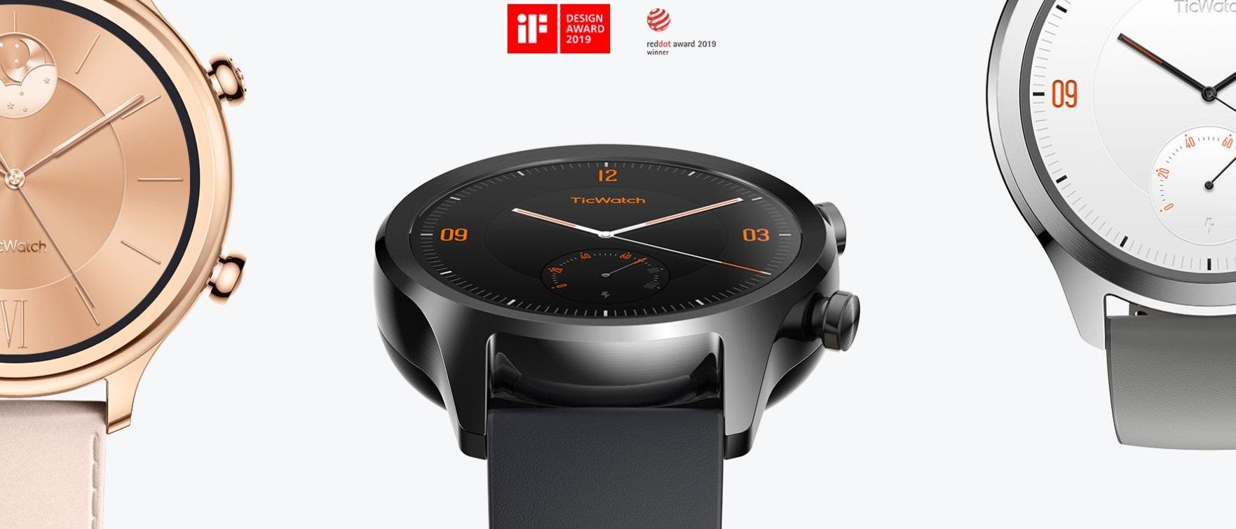 Pohodlný funkční design chytrých hodinek Ticwatch C2 si zamilujete, jejich design byl také oceněn reddot award 2019
