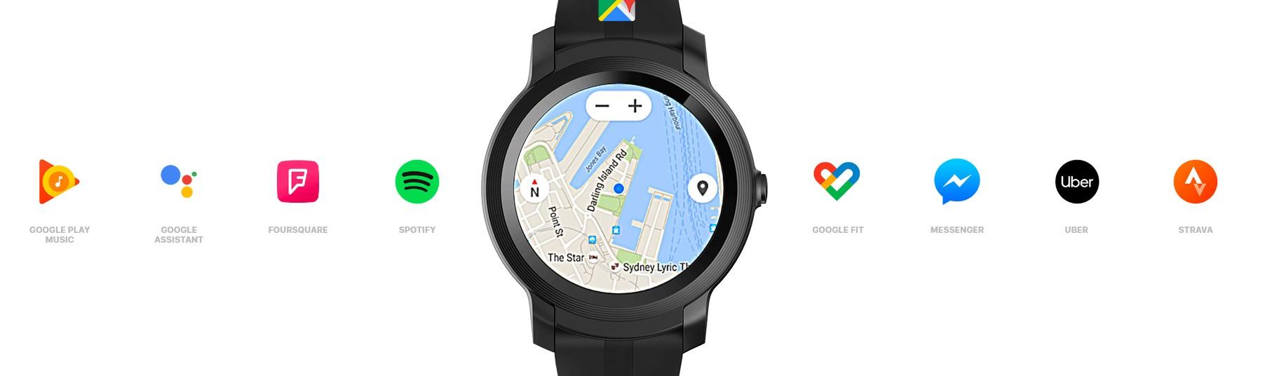 Už nikdy vám na zápěstí nebude chybět vaše oblíbená aplikace TicWatch E2 s Wear OS nabízejí přístup k více jak stovkám tisíc aplikací z obchodu Google Play