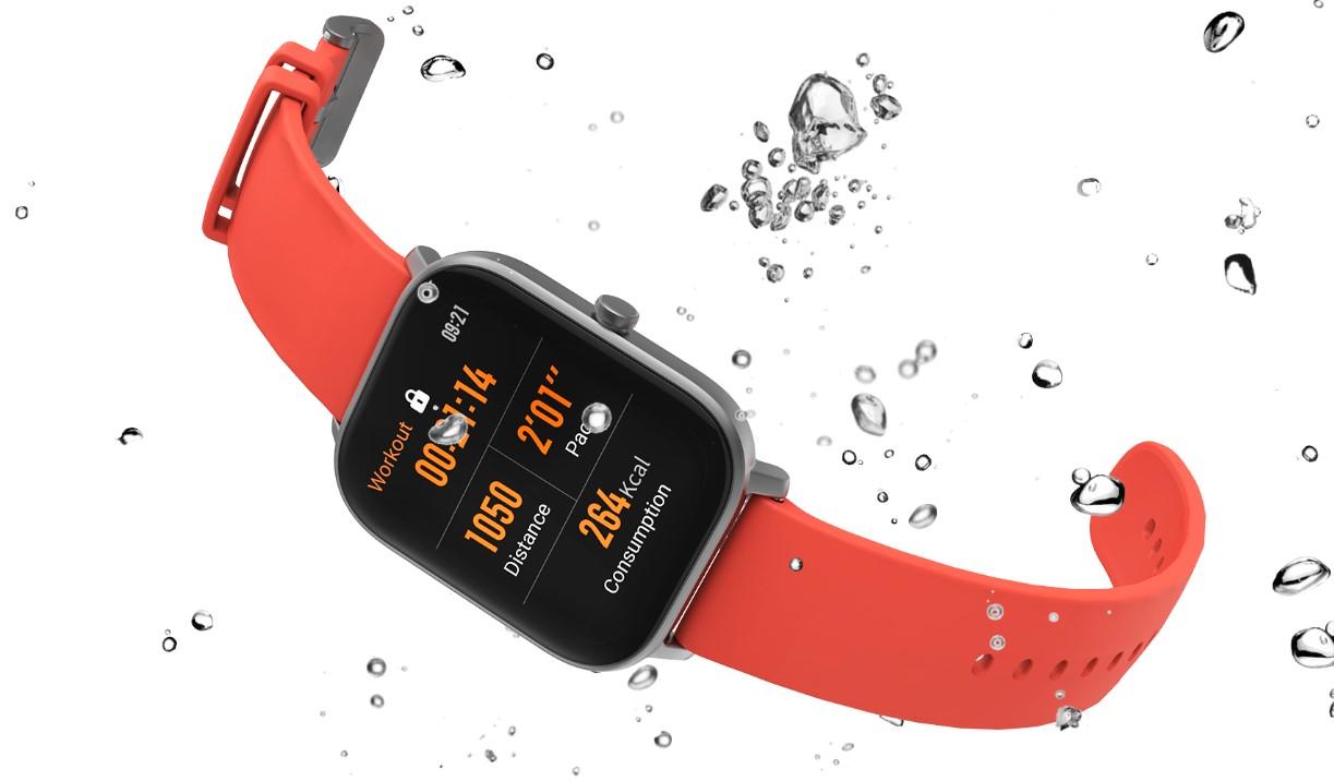Voděodolná konstrukce až do 5 ATM dělá z chytrých hodinek Xiaomi Amazfit GTS ideálního parťáka na plavání