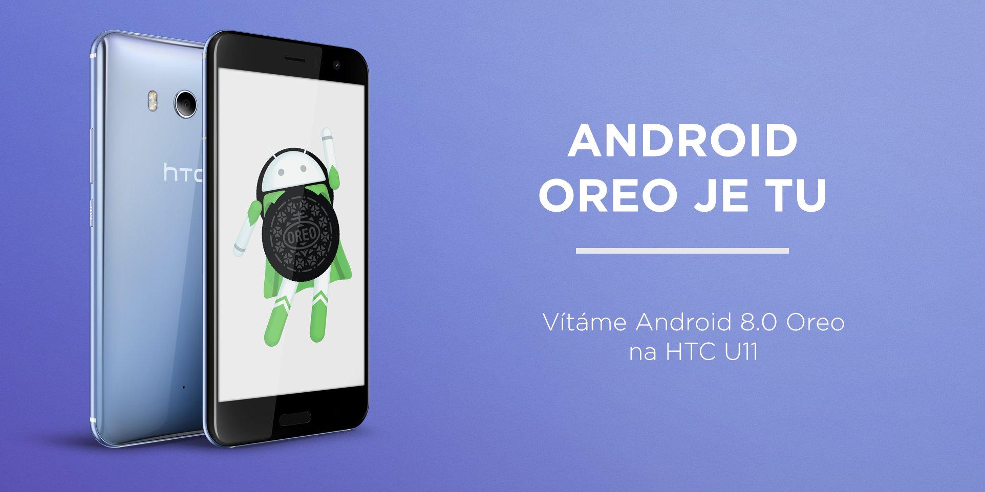 HTC U11 se dočkalo a získává Android Oreo