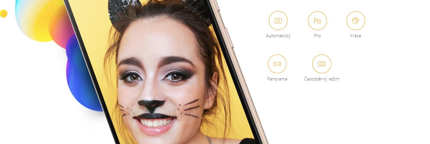 Dokonalé selfie a vylepšení přímo v aplikaci kamery