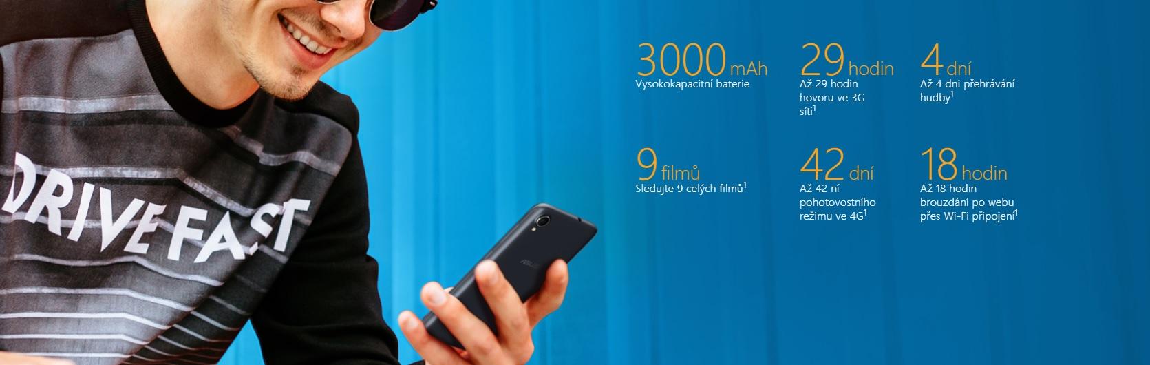 ASUS Zenfone Live L1 vydrží nabitý od rána do večera, rozhodně vás nenechá na holičkách