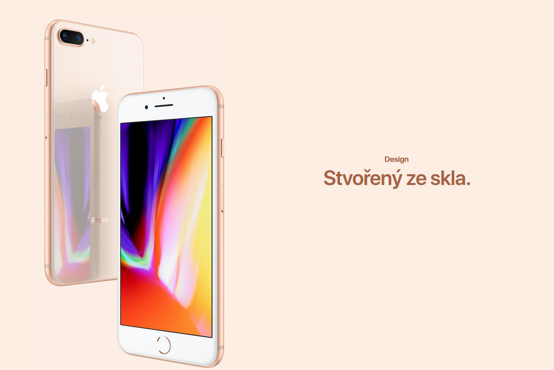 Nejnovější generace Apple iPhone 8 má záda ze skla