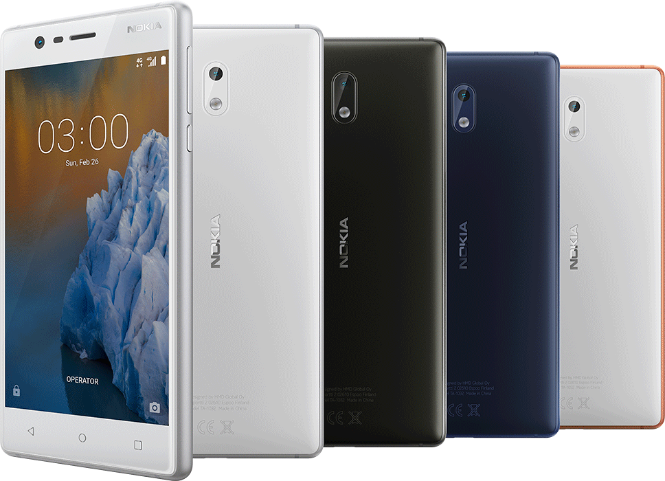 Nokia 3 designem připomene starší modely Lumia, nemá s nimi však vůbec nic společného.