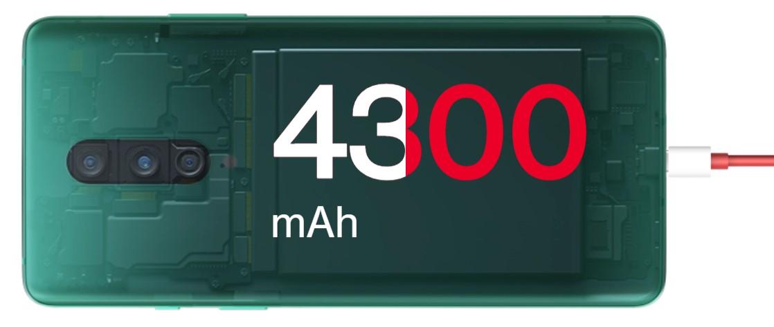 Dostatek energie na celý den nabídne OnePlus 8 díky vestavěné baterii s kapacitou 4300 mAh