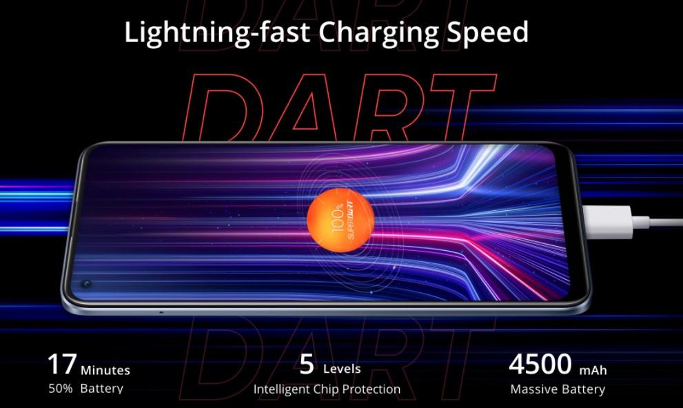 Dlouho vydrží, rychle nabijí, Realme 8 Pro s 50W nabíjením