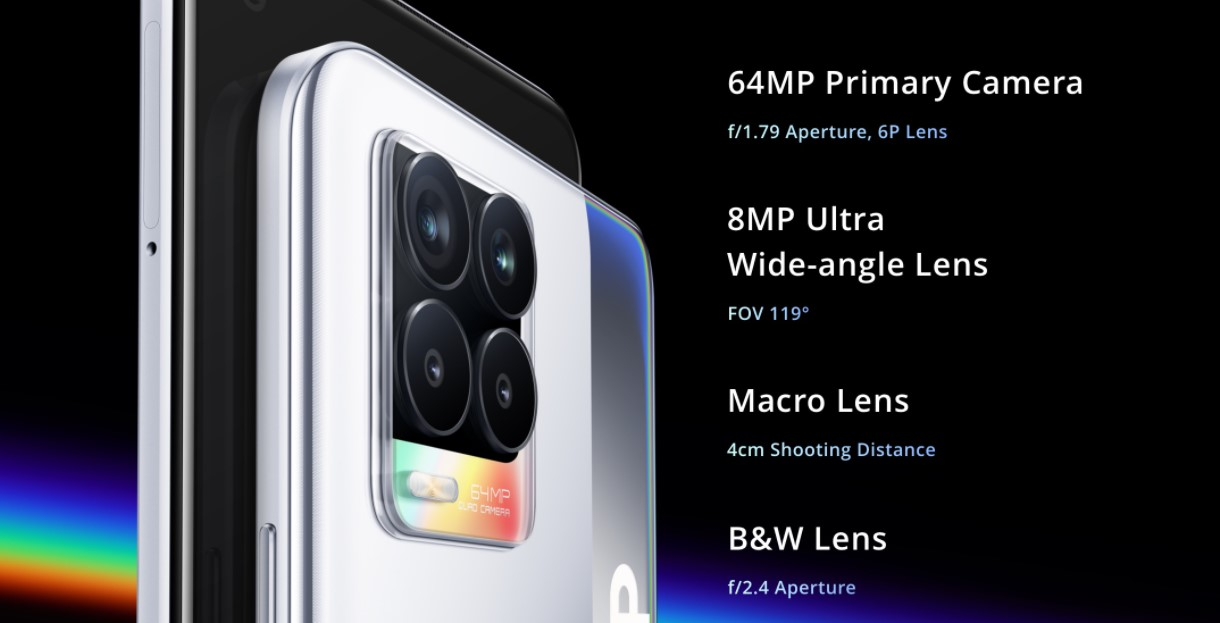 Nezmeškejte žádný okamžik s Realme 8 a dokonalou 64 Mpx kamerou