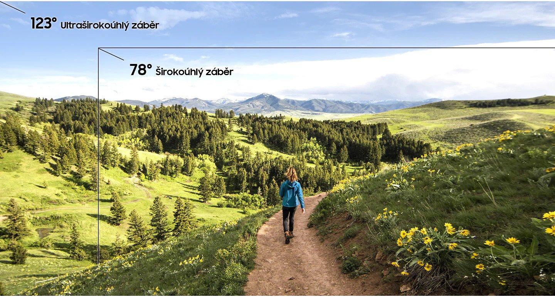 široký záběr umožní novou dimenzi fotografii, které můžete se Samsung Galaxy A50 vytvářet