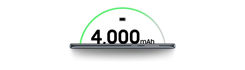 vydrží nabitý celý den a víc, Samsung Galaxy A50 je vybaven baterii s kapacitou 4000 mAh