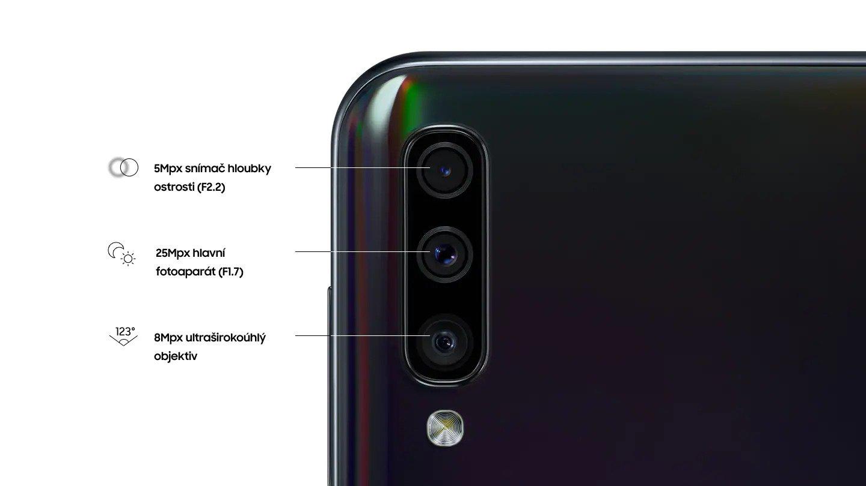 Dokonalé snímky díky trojité kameře Samsung Galaxy A50