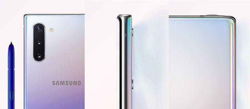 Vzdušný design a moderní pojetí smartphonu Galaxy Note 10
