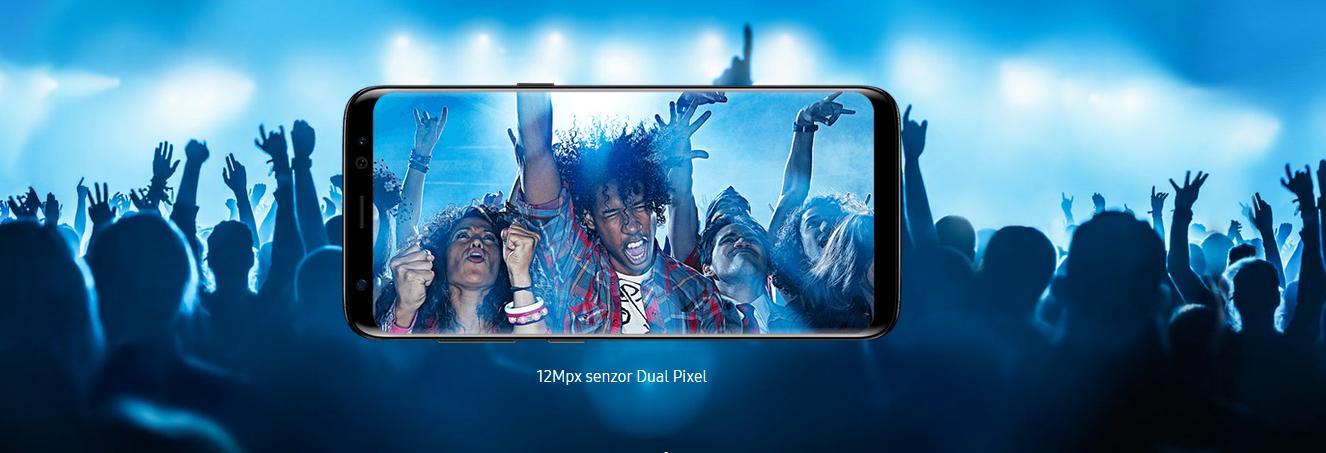 Špičková 12 Mpx kamera patří mezi nejlépe fotící na trhu, Samsung Galaxy S8 je králem fotomobilů.