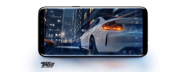 Ohromný výkon osmi jádrového procesoru Samsung Galaxy S8 si poradí s jakoukoliv hrou.