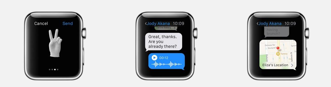 Možností reakcí na zprávy s Apple Watch je mnoho