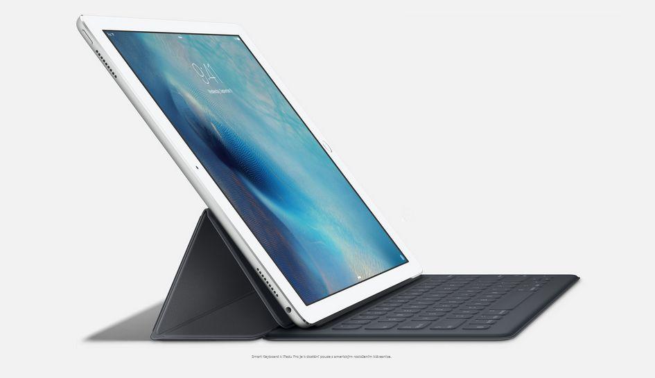 Klávesnice SmartKeyboard udělá z iPadu Pro plnohodnotný počítač.