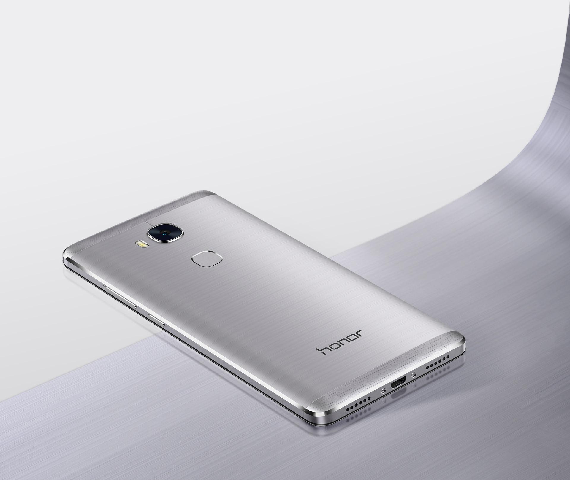 Nádherné zpracování z jednoho kusu hliníku, zakonečené čtečkou otisku prstů, Huawei Honor 5X je prémiovým smartphonem s Androidem.