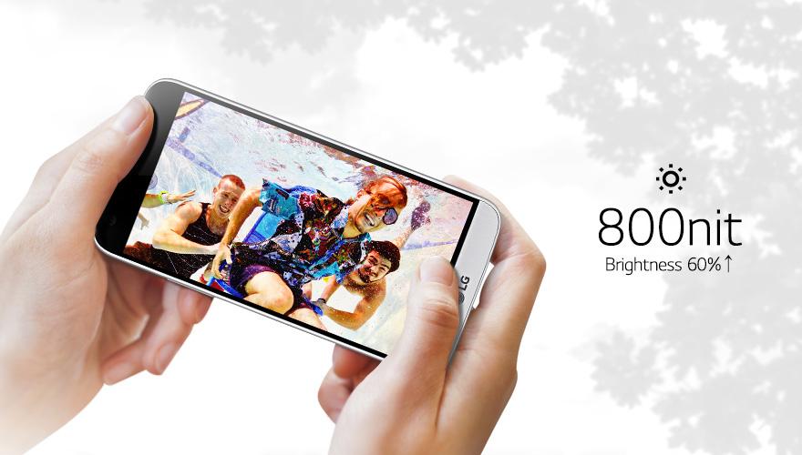 Luxusni displej nového smartphonu LG G5 nabízí úžasnou svítivost přes 800 nitů.