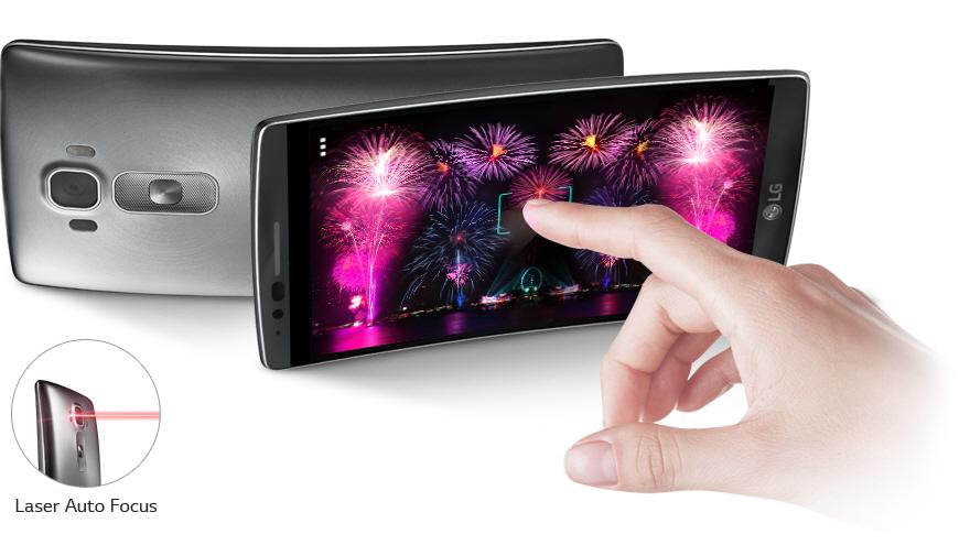 Špičková fotoaparát LG G Flex 2 H955 s laserovým ostřením.
