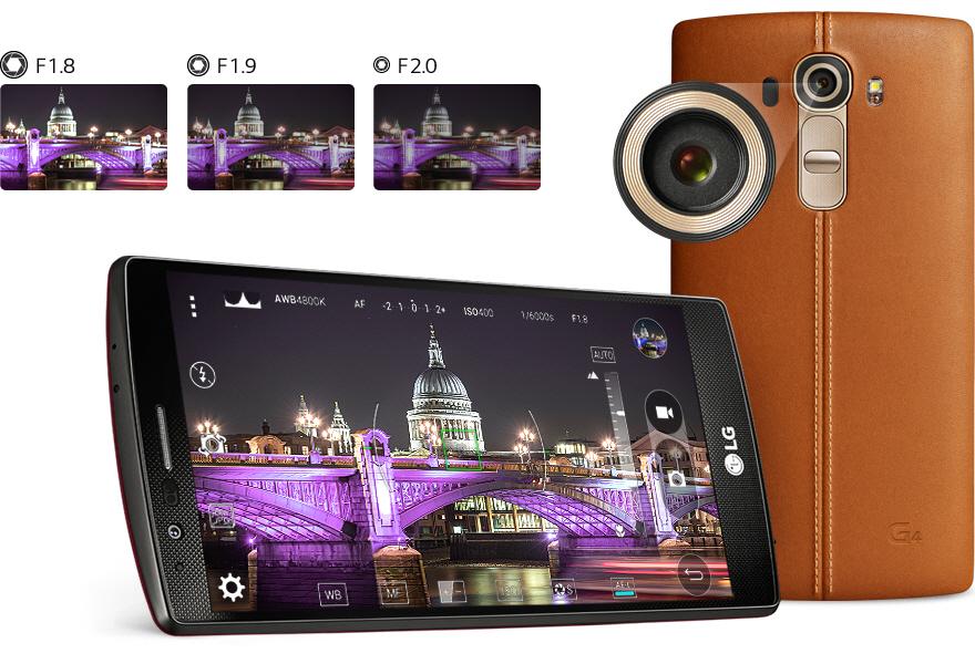 Bezkonkurenční světelnost objektivu dotykového mobilu LG G4