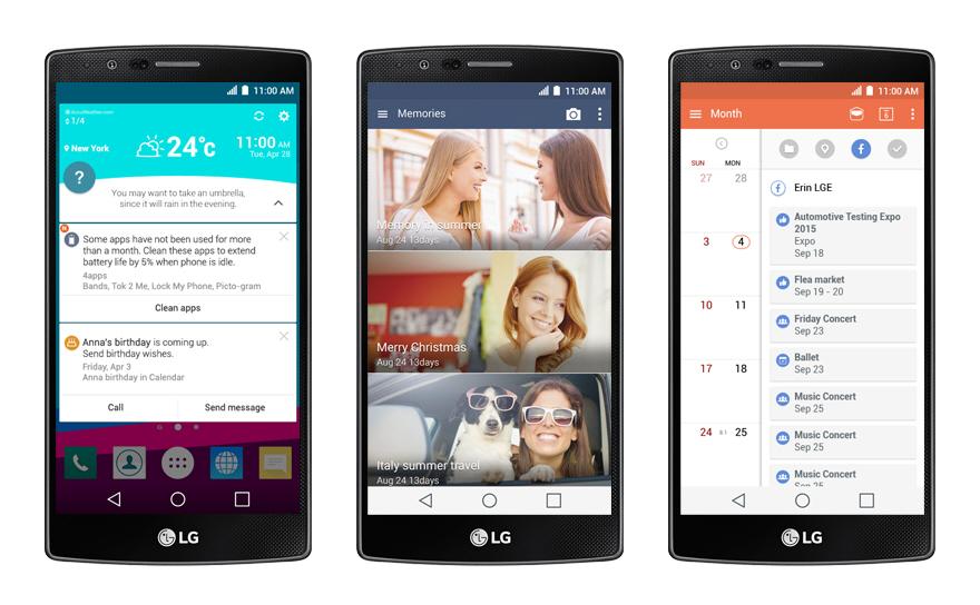 Pokročilé funkce operačního systému Google Android s vylepšením LG jsou u modelu LG H815 G4 k nezaplacení !