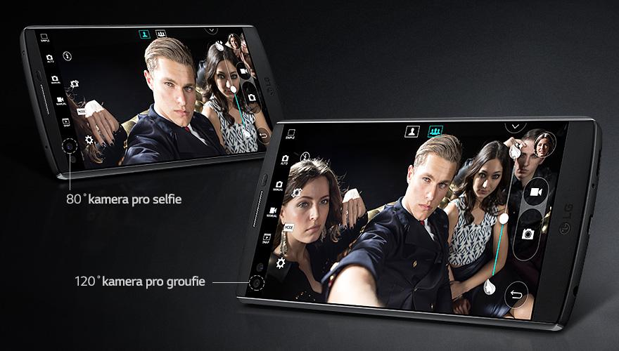 Briliantní selfie, duální selfie kamera modelu V10 H960 vás uchvátí.