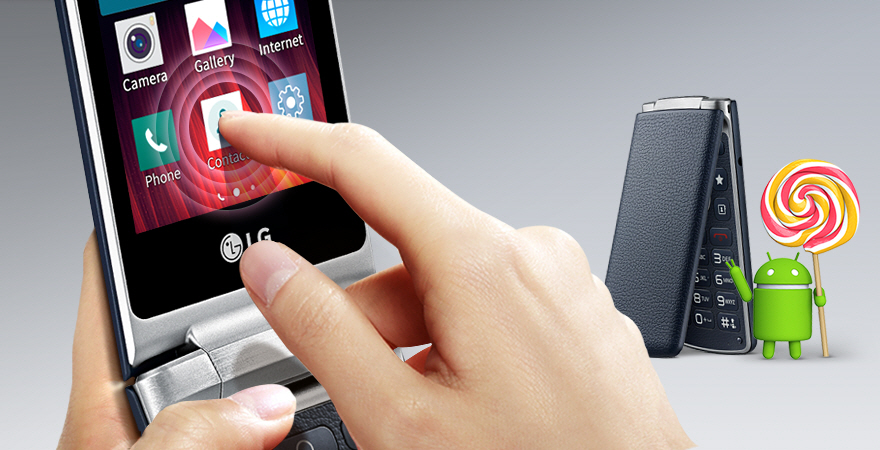 Dotykové ovládání smartphonu véčkové konstrukce LG Wine Smart