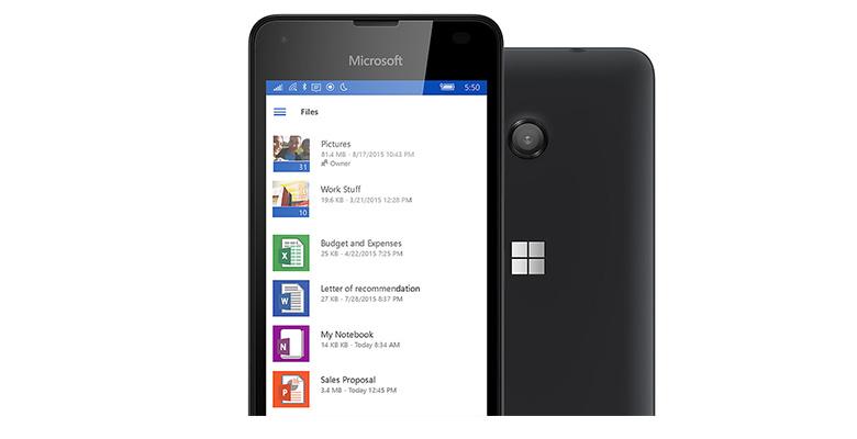 Špičkový mobilní telefon Microsoft Lumia 550