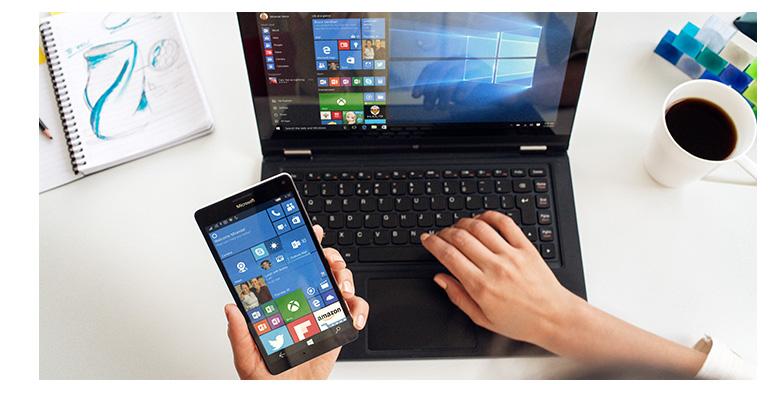 Windows 10 jsou zbrusu nové a Windows 10 Mobile vypadají přesně jako ony, Lumie 950 XL může nahradit váš PC, podporuje totiž režim Continuum.