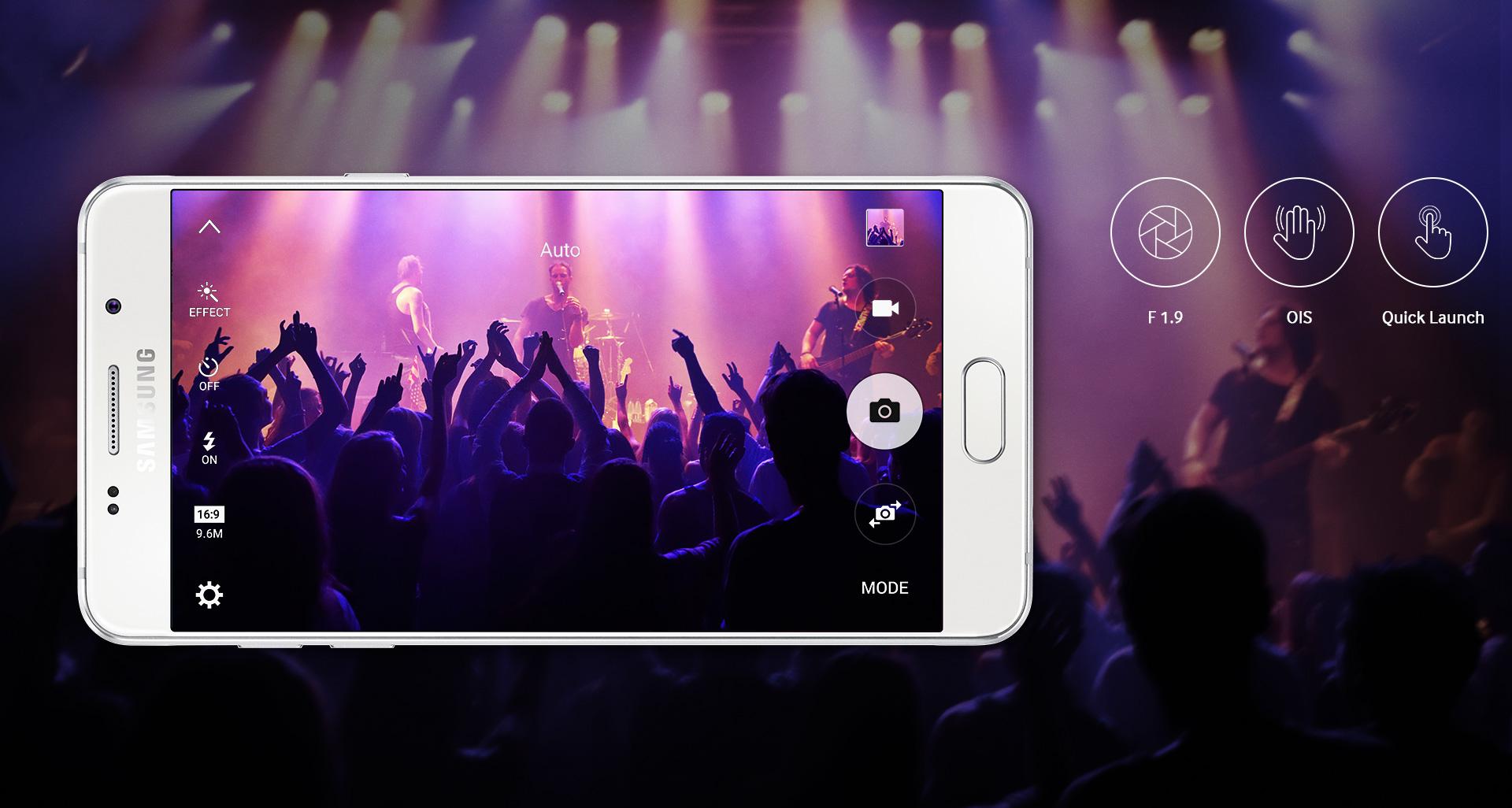 Hledáte ideálního partáka pro dokumentaci vašich zážitků? Špičkové fotoparáty mobilu Samsung Galaxy A5 A510F jsou k vašim službám připraveny.