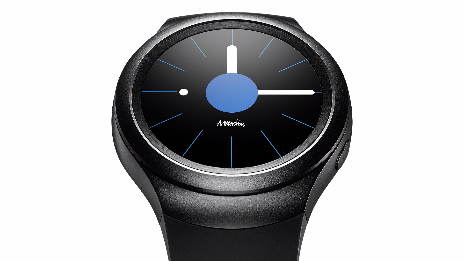 Luxusní kruhový Super AMOLED displej chytrých hodinek Galaxy Gear S2.