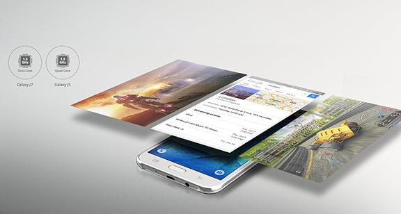 Galaxy J5 nabídne výkonný čtyřjádrový procesor, který se před ničím nezastaví.