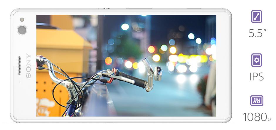 Obrovský displej s nevídaným rozlišením, Xperia C4 bortí všechny limity, její Full HD displej na IPS panelu vypadá skvěle. Poznejte své fotky a aplikace v nové dimenzi, Xperia C4 vás uchvátí.