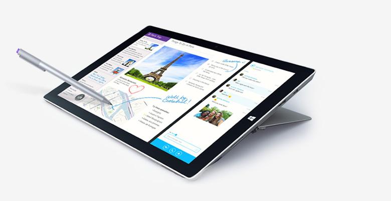 Surface Pro 3 tablet PC nabízí luxusní Full HD displej