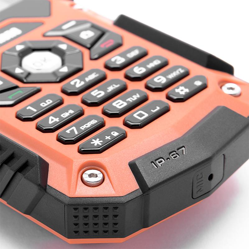 Odolnost vůči vodě a prachu je u myPhone Hammer samozřejmostí. Splňuje specifikaci IP67.