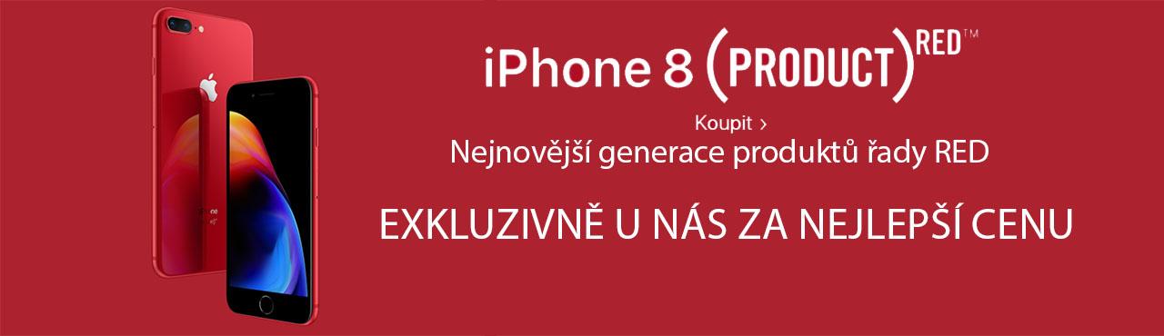 iPhone 8 a iPhone 8 Plus v červené exkluzivně u nás