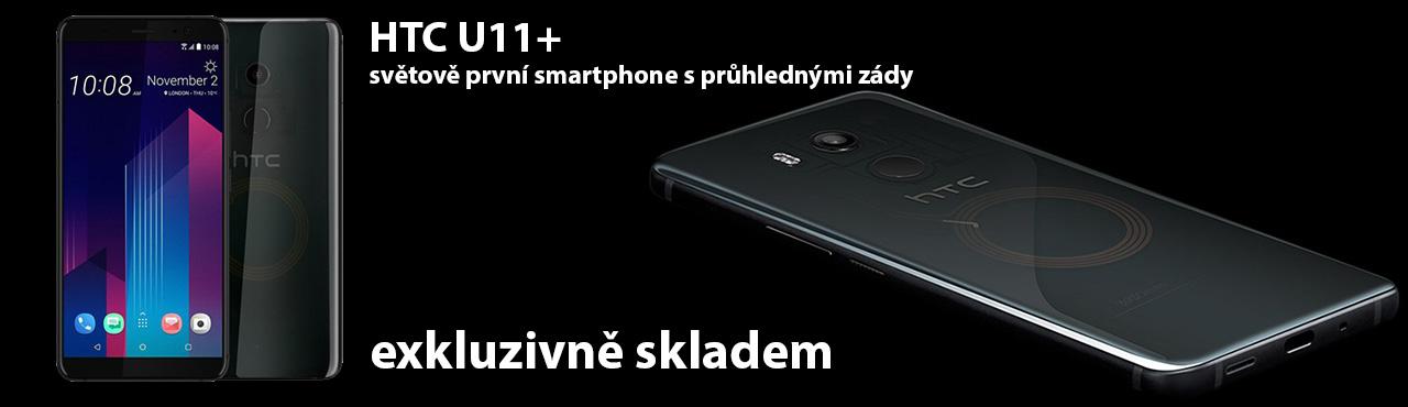 Poloprůhledná záda, brutální výkon - HTC U11 Plus exkluzivně skladem