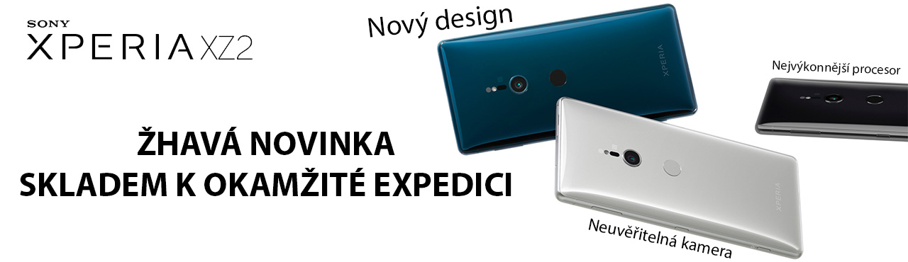 Sony Xperia XZ2 skvostný design, brutální výkon. Nyní skladem