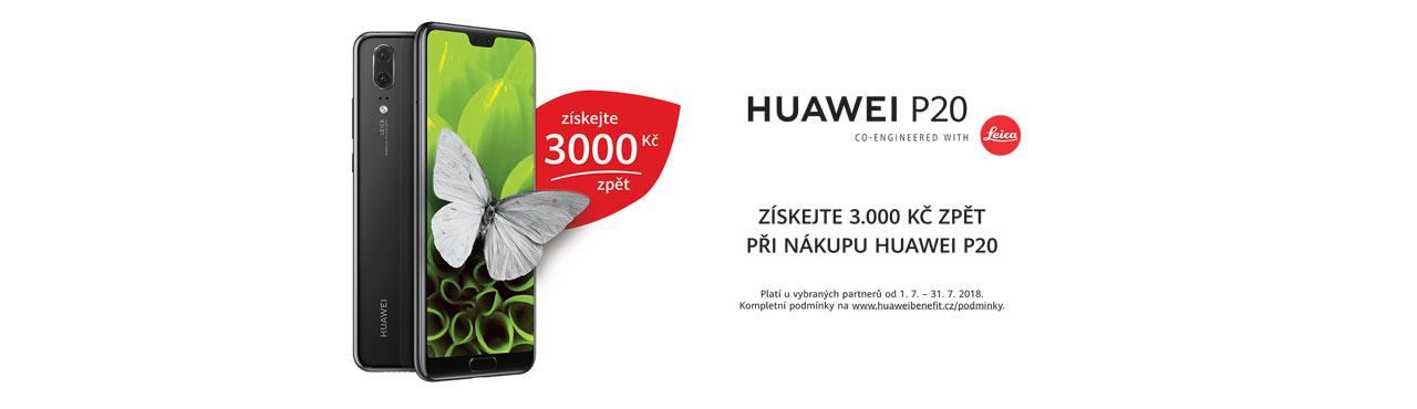 Za koupený Huawei P20 nyní získáš 3.000 Kč zpět