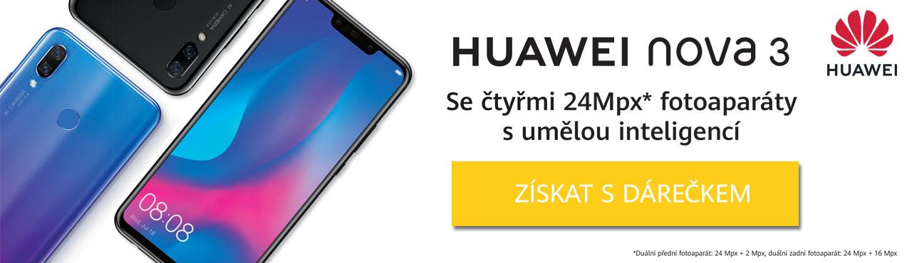 Huawei Nova 3 exkluzivně skladem s hodnotnými dárky ZDARMA