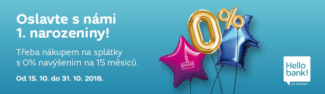 Slavíme narozeniny Hello Bank, oslavte je s námi splátkami bez navýšení