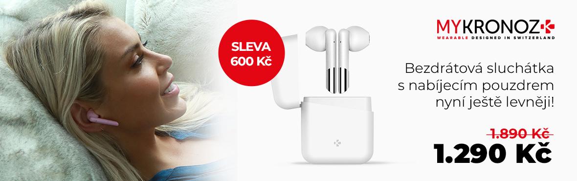 Moderní bezdrátová sluchátka ZeBuds se slevou