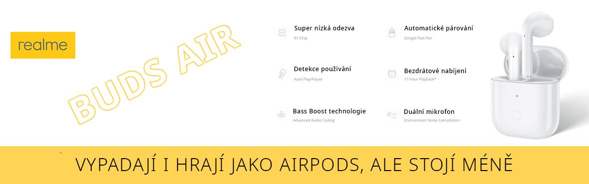 Vypadají i hrají jako Airpods, Realme Buds Air