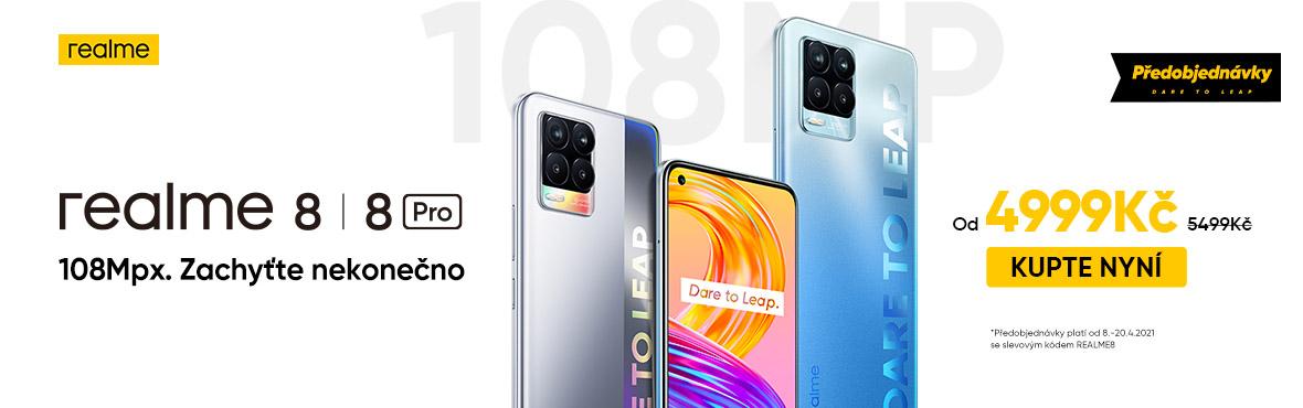 Startujeme předprodej Realme 8 a Realme 8 Pro se slevou 500 Kč