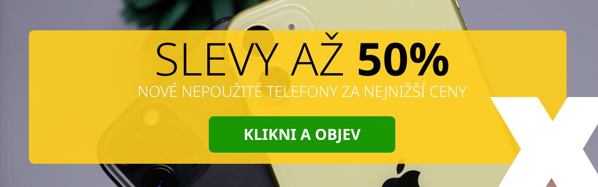 Objevte telefony za nejnižší ceny se slevou až 50%