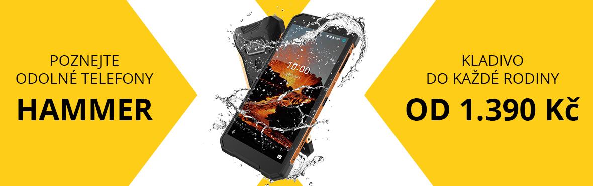 Poznejte odolné telefony myPhone Hammer od 1.390 Kč