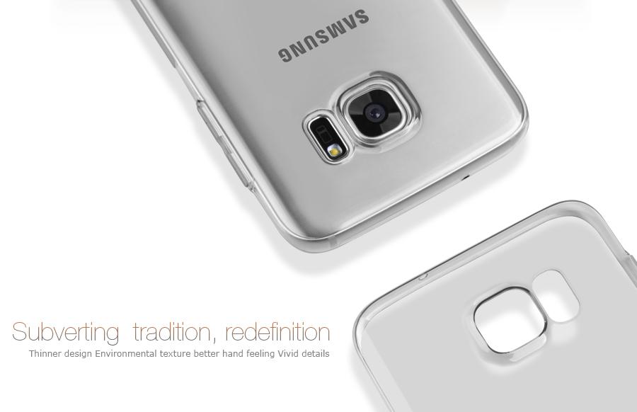 Pouzdro Nillkin Nature TPU Samsung G935F Galaxy S7 Edge šedé