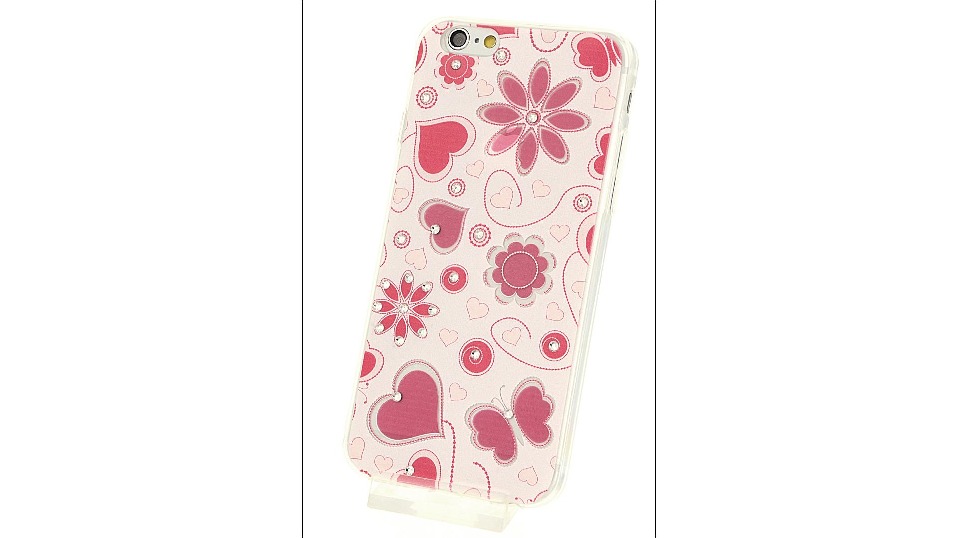 Plastový zadní kryt pro iPhone 6 a iPhone 6S s motivem srdce 8ea40c29b03