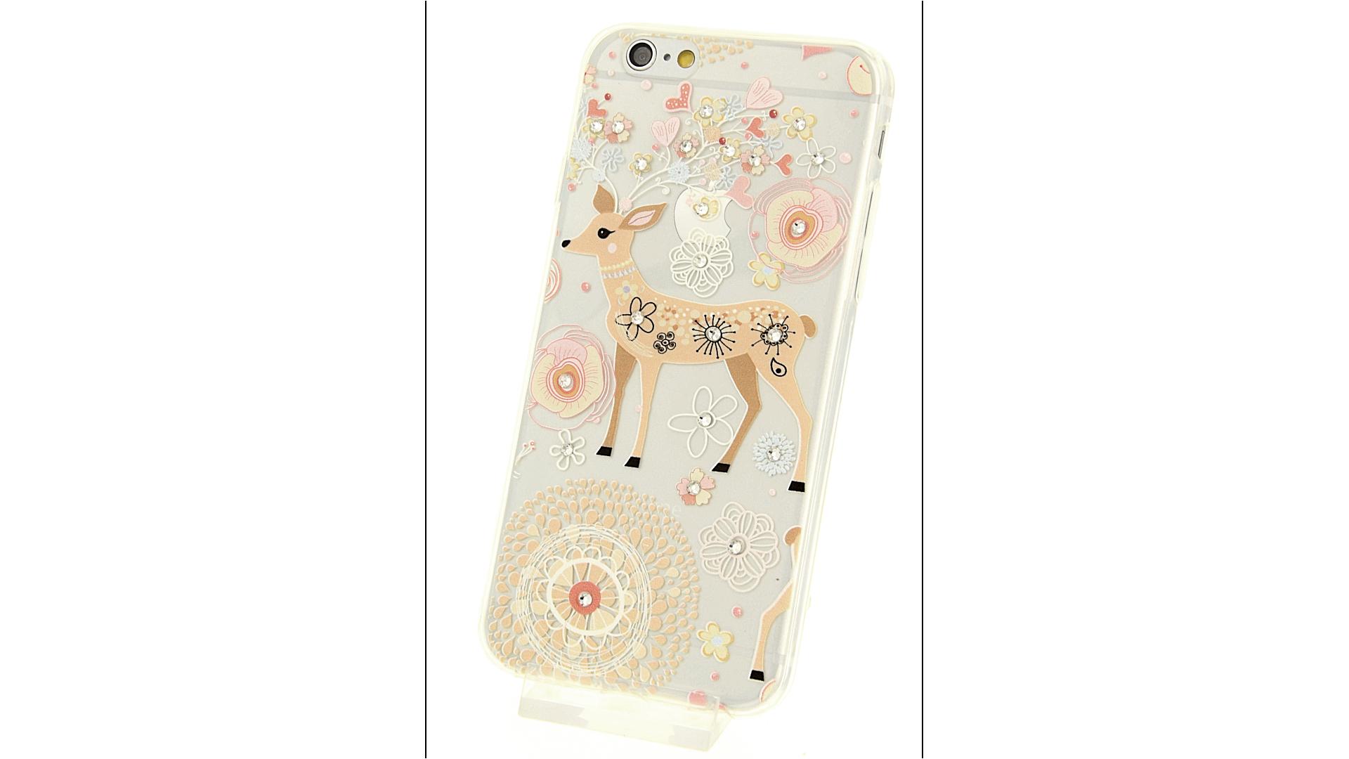 Plastový zadní kryt pro iPhone 6 a iPhone 6S s motivem bambi 71f01517967