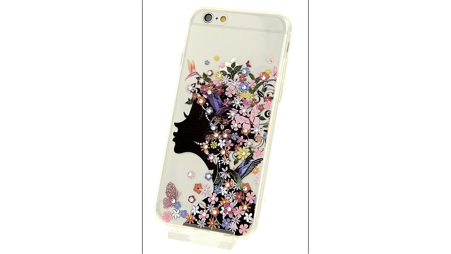 Plastový zadní kryt pro iPhone 6 a iPhone 6S s motivem květinové dámy e91a238c980